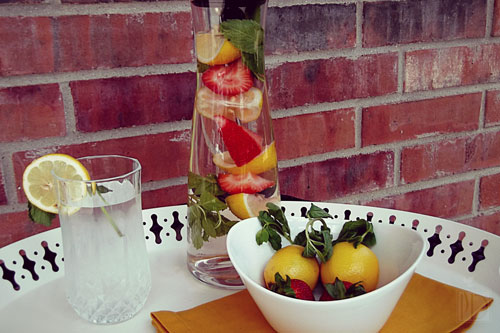 Strawberry Lemonade Infused Water