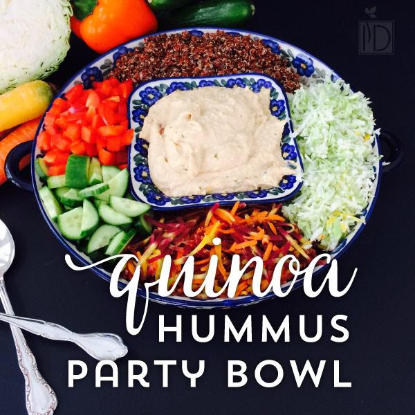 Quinoa Hummus Party Bowl