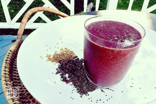 Omega-3 Banana Berry Smoothie