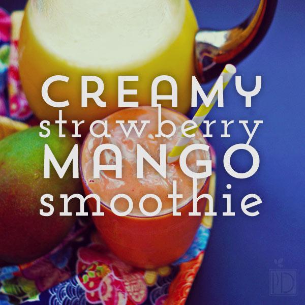 Creamy Strawberry Mango Smoothie
