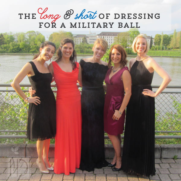 The long and short of dressing for a military ball