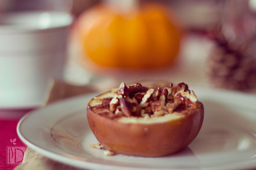 Baked Pears with Pecans and Honey