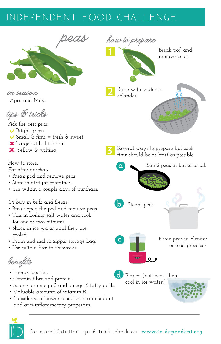 How to prepare peas