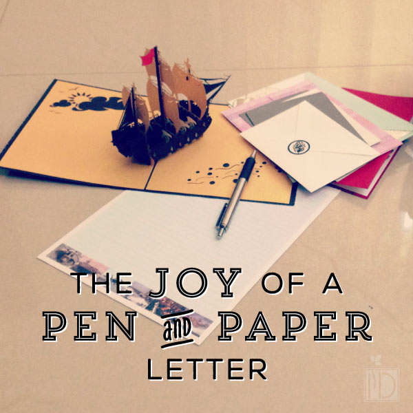 The Joy of a Pen and Paper Letter - When was the last time that you sat down and wrote a letter? A true pen and paper letter?  When was the last time you received one? There is nothing better than finding something in the mail that isn't a bill or an advertisement.