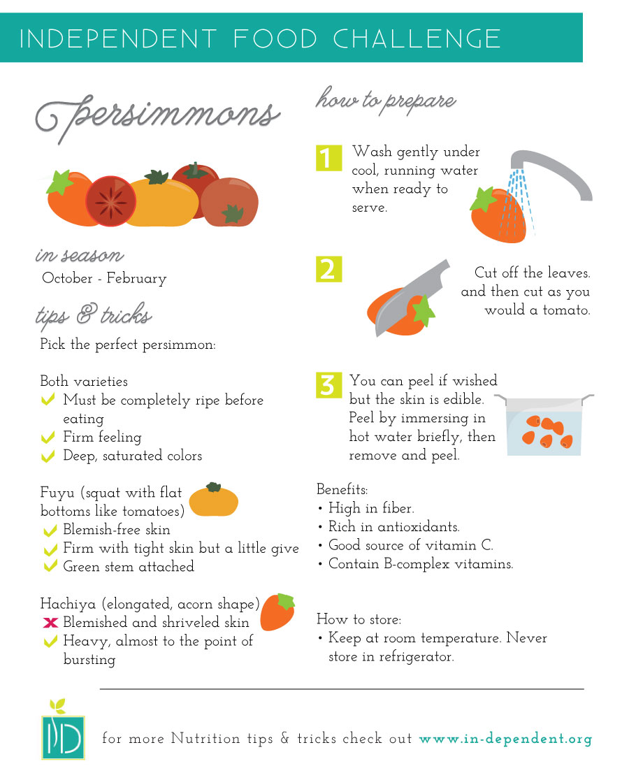 Tips on how to store and prepare Persimmons