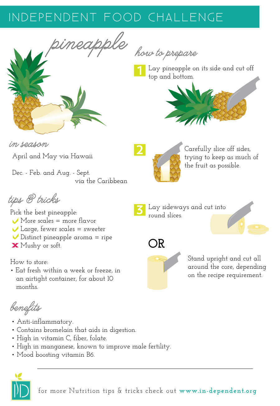 How to prepare pineapple