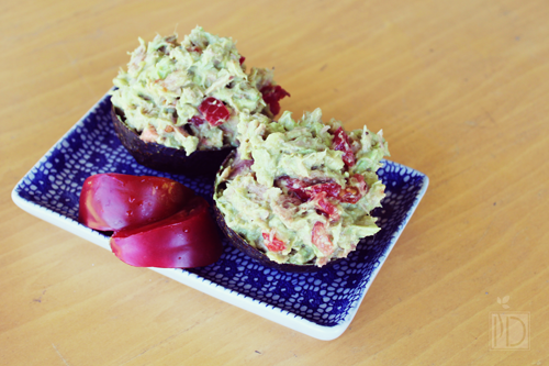 Avocado Tuna Cups.  Yum!