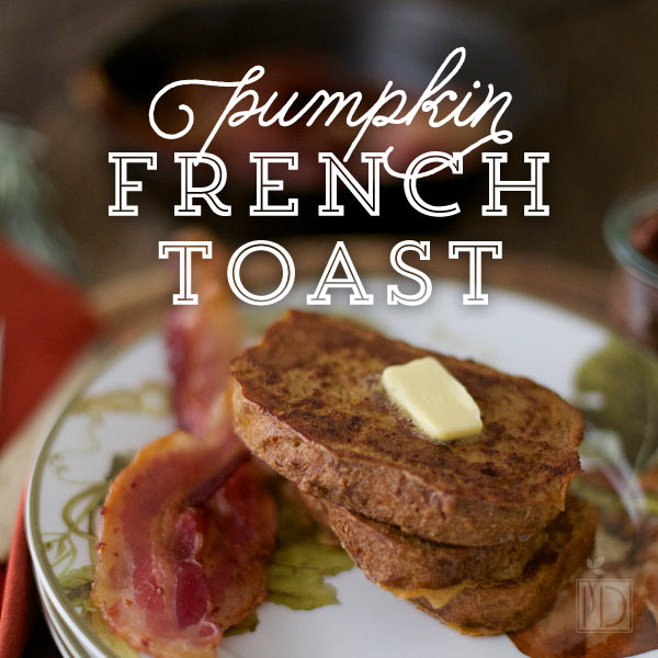 You can find my Grain Free & Paleo Pumpkin French Toast recipe on Colorful Eats.