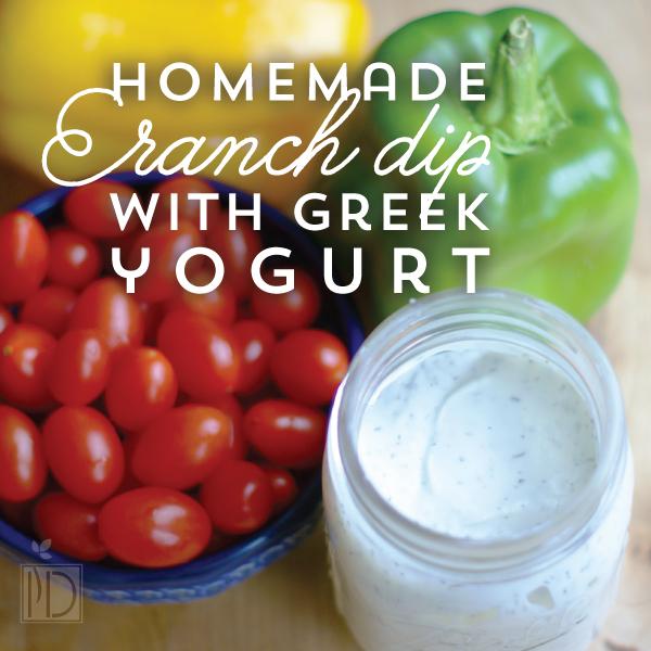Homemade ranch dip with greek yogurt