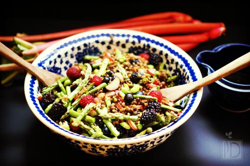 The Green Kitchen Maple-Tossed Beluga Lentil Salad