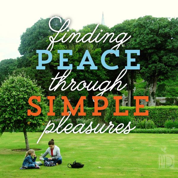 Finding Peace Through Simple Pleasures