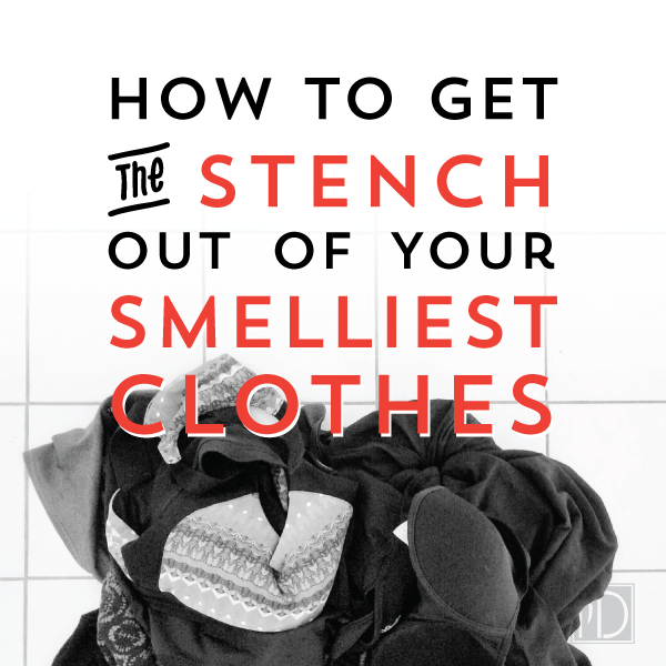 Using vinegar to get the smell out of the smelliest of workout clothes.