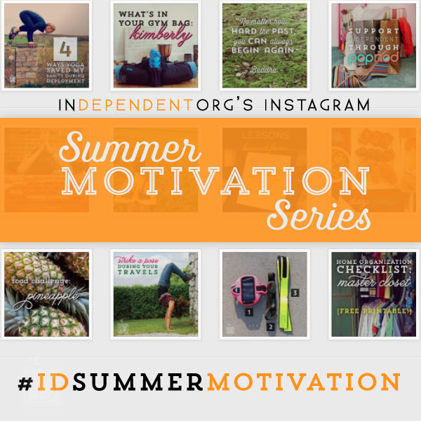 InDependent's #IDsummermotivation fitness series will feature strength training, cardio, and plyometric workouts.