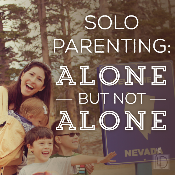 Reflection of solo parenting when a spouse is on deployment.