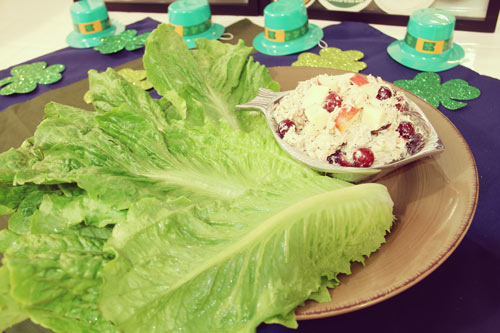 Greek Yogurt Chicken Salad Lettuce Wraps