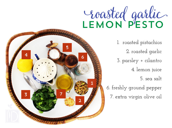 Roasted Garlic Lemon Pesto
