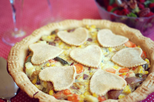 Valentine Vegetable Pot Pie