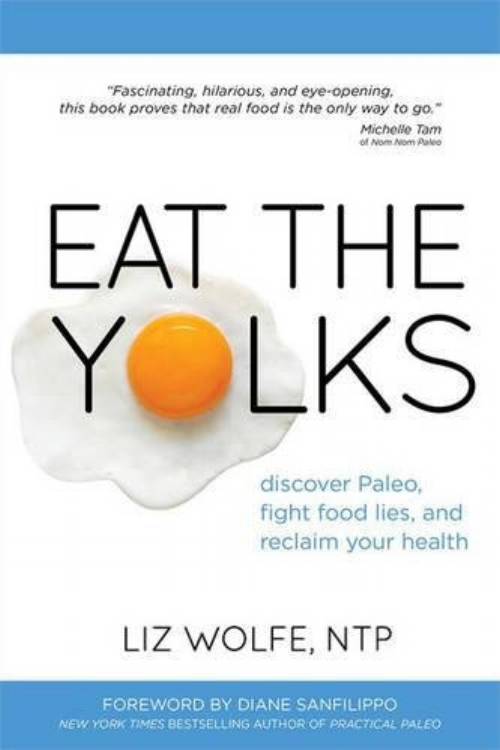 "Eat the Yolks by Liz Wolfe - Topics: Health, EatingIn Eat the Yolks, Liz Wolfe doesn't just make a case for eating the whole egg. She uncovers the shocking lies we've been told about fat, cholesterol, protein, carbs, and calories and brings us the truth about which foods are healthy—and which foods are really harming us. You'll learn truths like: fat and cholesterol are crucial, not harmful; why - ""whole grains"" are processed foods; what to eat instead of counting calories; what we actually should be tracking; all animal products are not created equal and which ones we truly need; nutrition doesn't come in a box, bag, or capsule; and why there's no substitute for real food!"