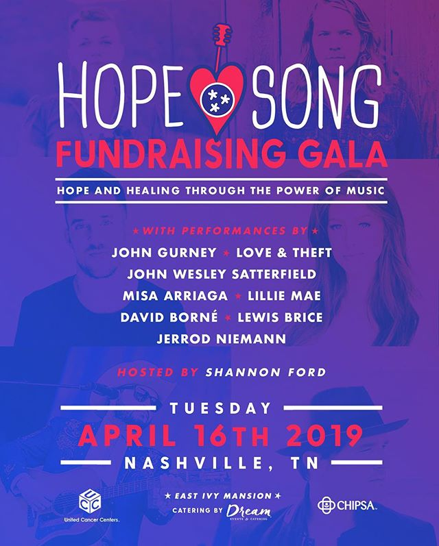 So excited for the annual @hopesongnashville Fundraising Gala @theeastivymansion on April 16th! There's still a few tables if you'd like to attend. Message me for details and get ready for a great evening with performances from some of my favorite folks! @johngurneymusic @loveandtheft @misathebear @littlefiddle7 @davidbornemusic @lewisbrice @jrodfromoz 📸: @jonathanpears