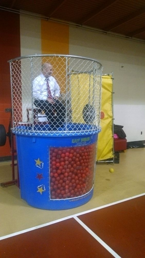 Want to do a dunk tank indoors? Use plastic balls instead of water!