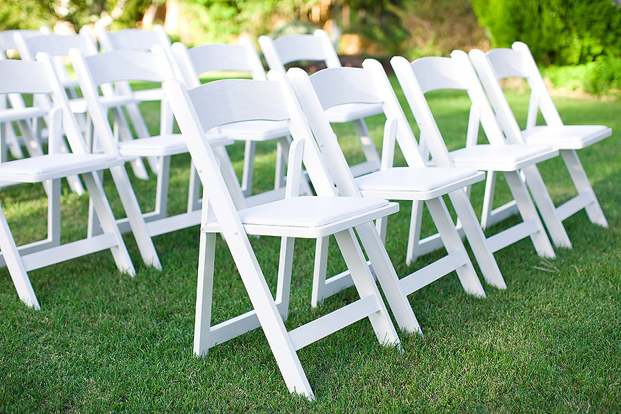 White Resin Folding Garden chair rentals in Milwaukee, Waukesha, Mequon, Fox Point, Bayside, River Hills, Wisconsin