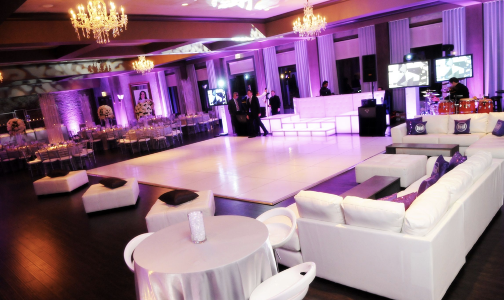 White lounge furniture rental for events in Milwaukee and Wisconsin