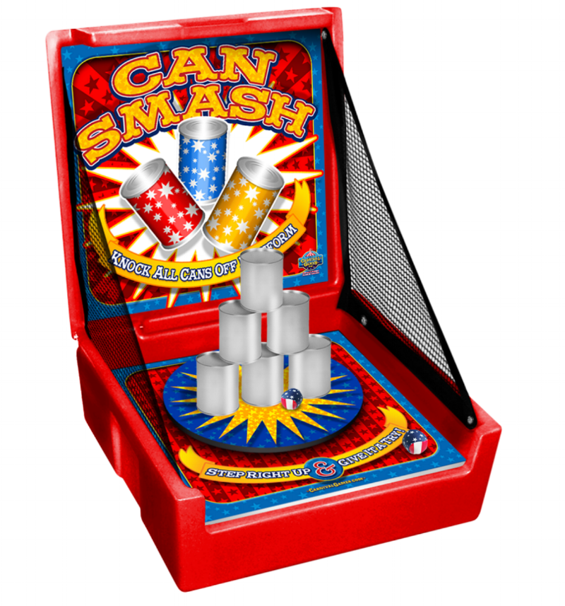 milwaukee carnival game can toss game rental