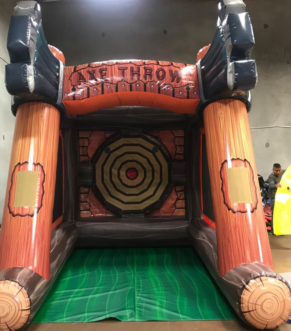Milwaukee, Wisconsin Inflatable Axe Throwing game rental. Inflatable party rentals.