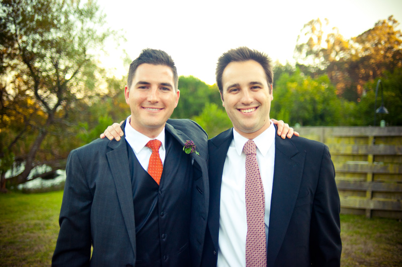Portrait of Groom with Brother