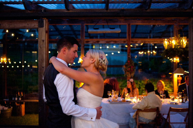 Bride and Groom first dance at Mar Vista Wedding