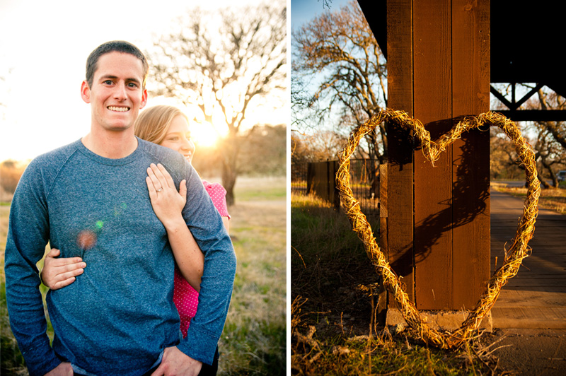 Couple embracing with heart wreath in Fairfield, CA