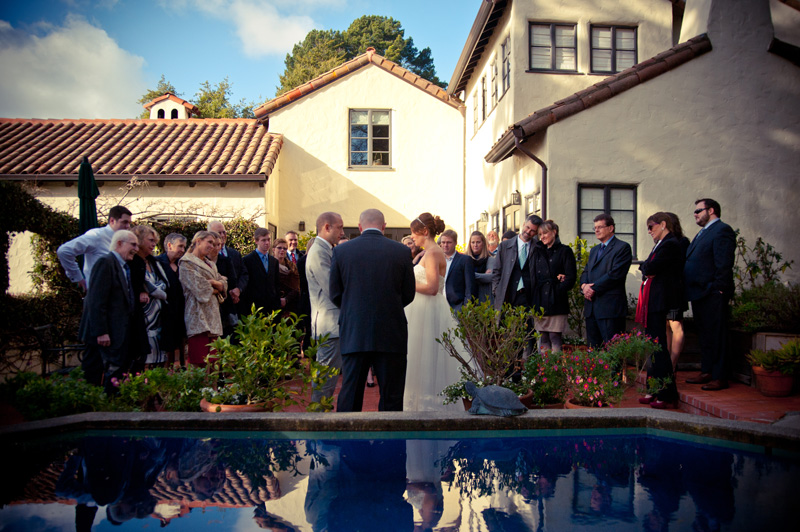 Ceremony at home in Berkeley, CA