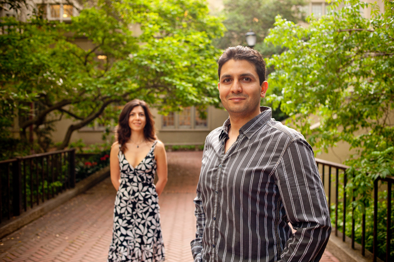 Portrait of couple at U.C. Berkeley