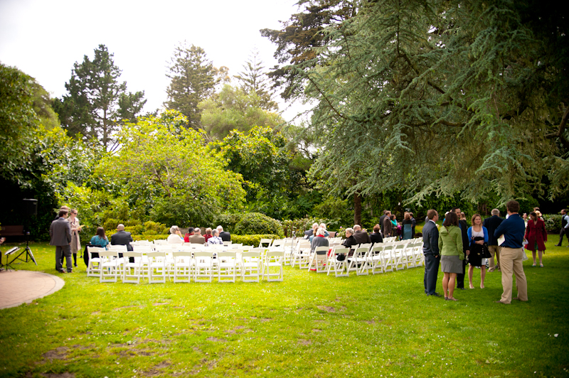 Wedding setup at Shakespeare Garden in San Francisco