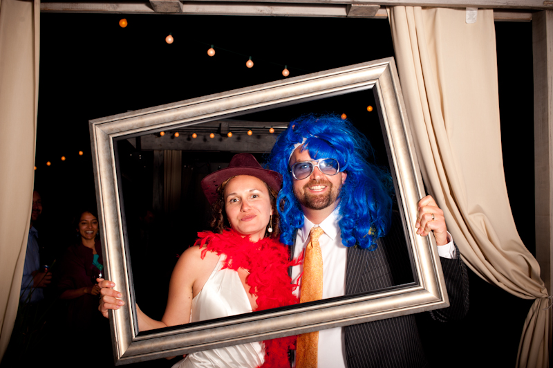 Bride and Groom at photobooth
