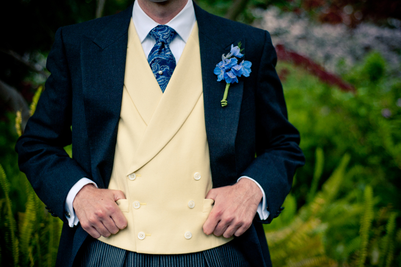 Detail of Groom's suit in Piedmont Park