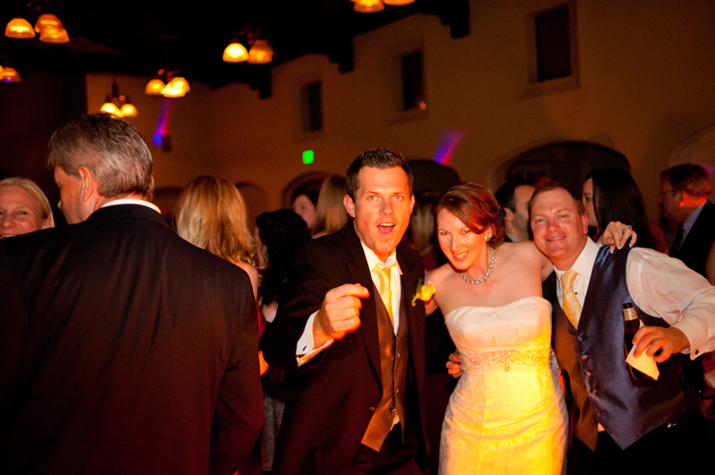 Bride with guests dancing in Piedmont, CA