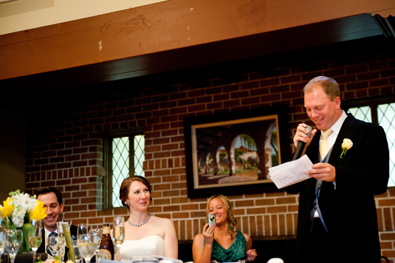 Best Man giving toast in Piedmont, CA