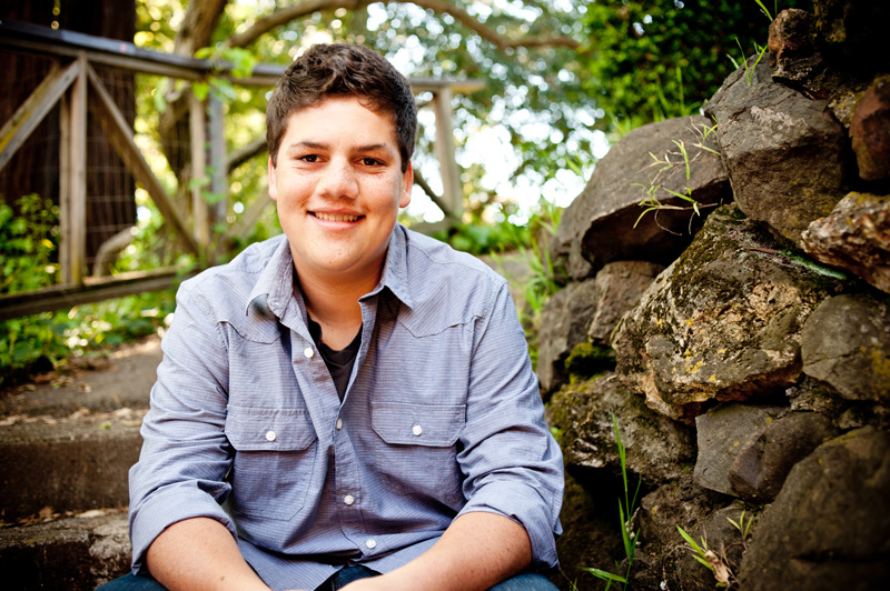 High school senior at Live Oak Park in Berkeley, CA
