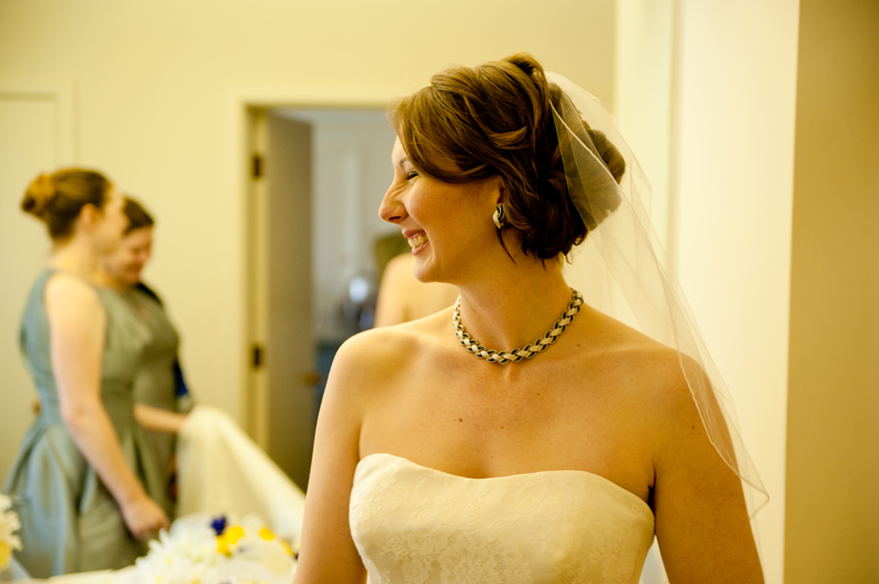 Bride smiling in Piedmont, CA