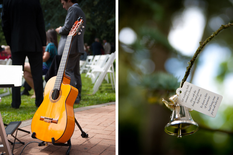 Wedding bells at Shakespeare Garden in Golden Gate Park
