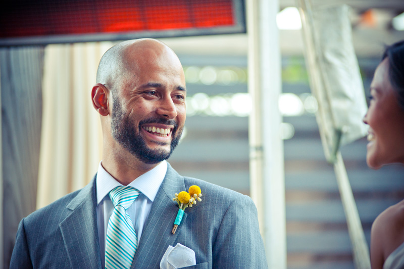 Groom smiling at Bride in San Francisco, CA