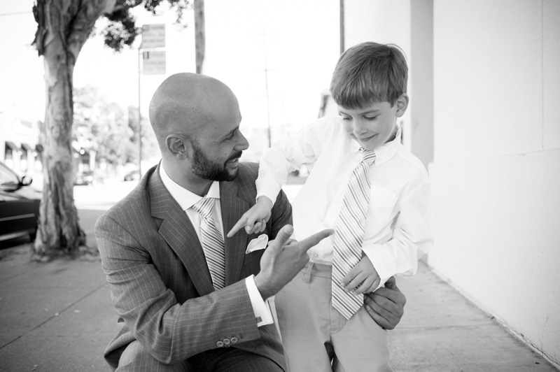 Groom with Son in San Francisco, CA