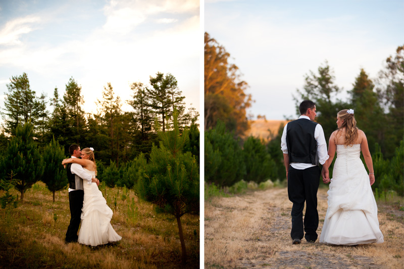 Candid portraits of bride and groom