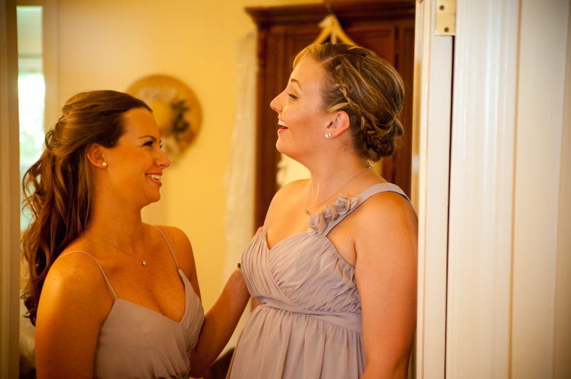 Bridesmaids laughing in Sebastopol, CA
