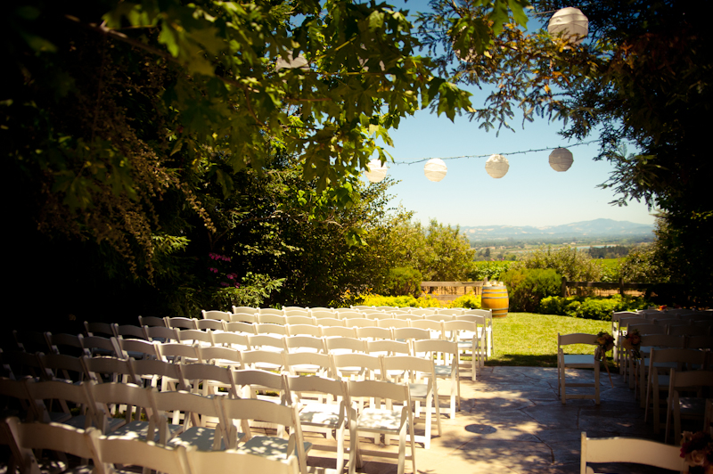 Ceremony location at Vine Hill House