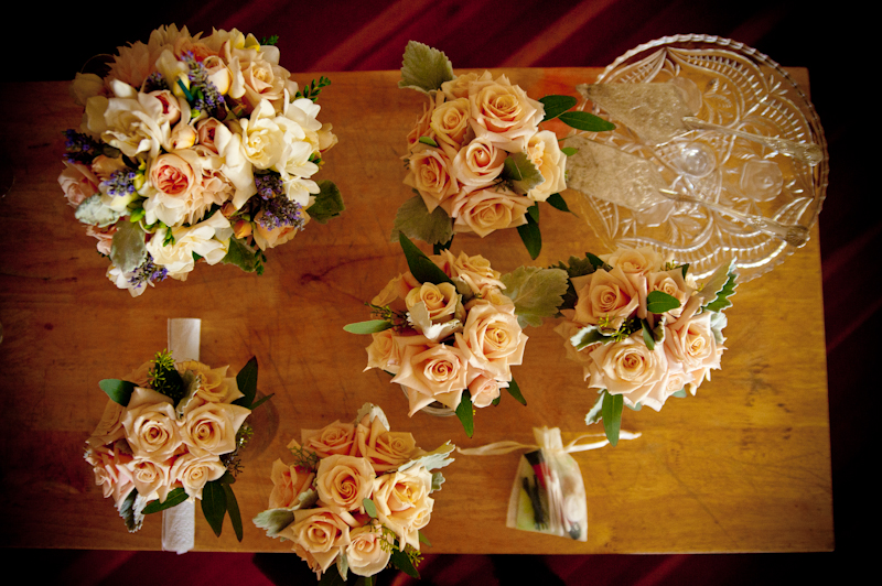Wedding bouquets together