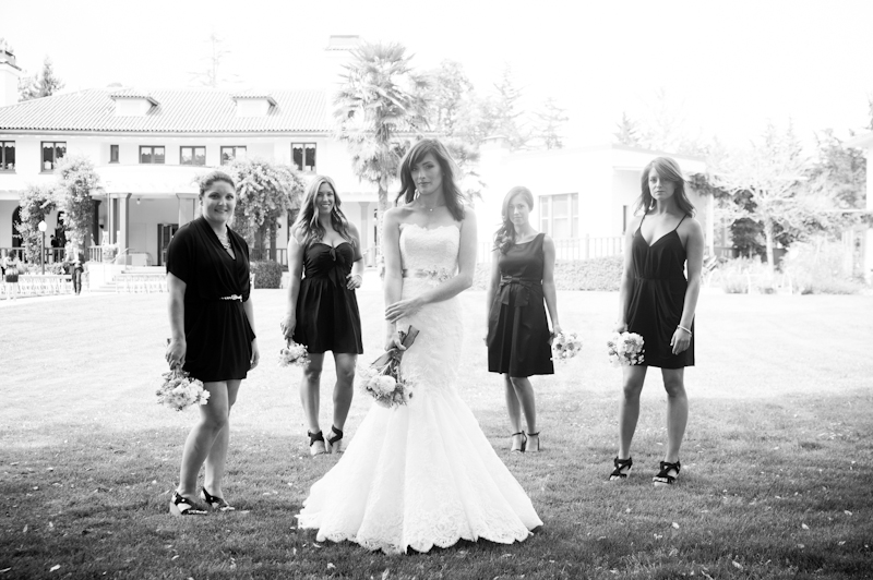 Portrait of bridal party at the Sesnon House