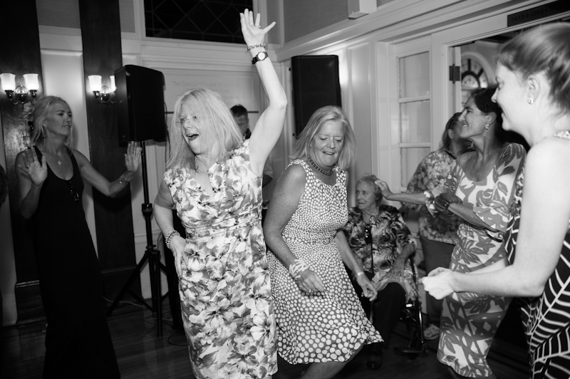 Guests dancing at the Sesnon House