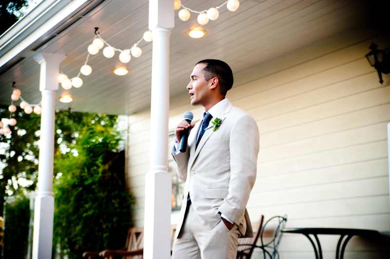 Brother of bride giving speech